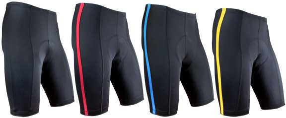 Black P. Bike Short with pinstripe
