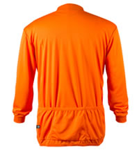 white back view of long sleeve