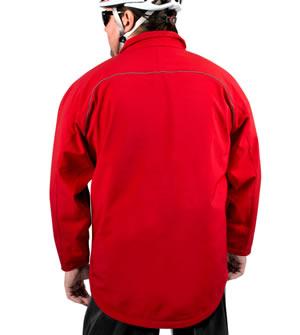 big man's raincoat in red