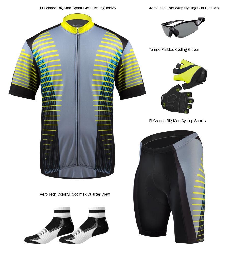 Big Man's Cycling Apparel from Aero Tech Designs
