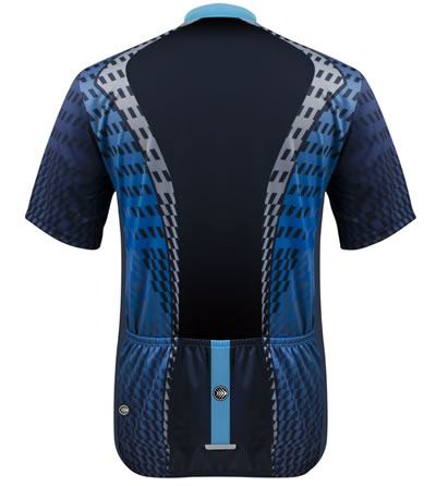 back view of power tread cycling jersey