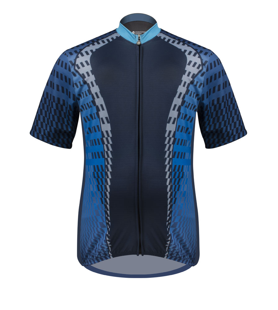 blue cycling jersey for big size men