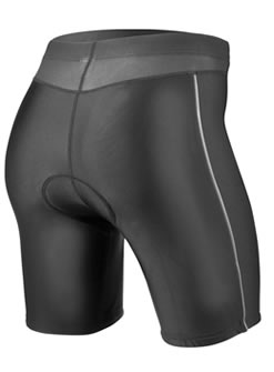 aero tech women's padded spinning short with reflective piping