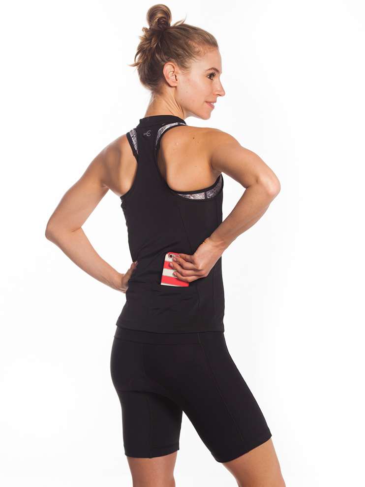 little black dress top for athletes tri top zip front women's jersey from coeur