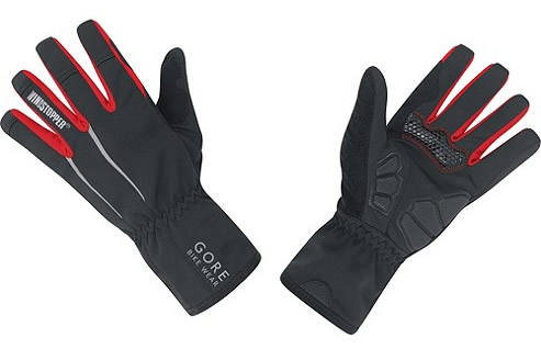 Gore Power full finger bicycling gloes with windstopper fabric