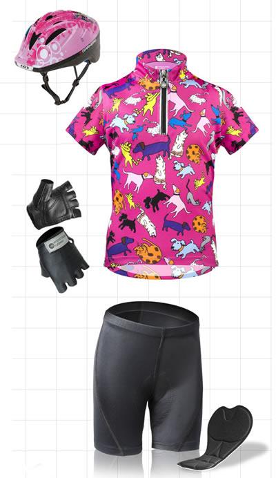girls cycling apparel