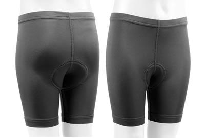 Children's Padded Bike Shorts in Black