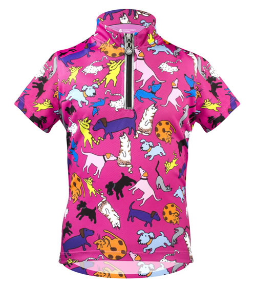 children girls bicycling jersey