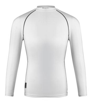 White compression shirt