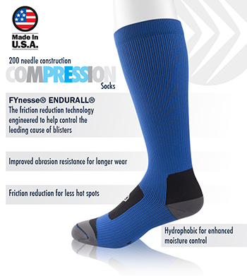Compression Socks Reduce Blisters