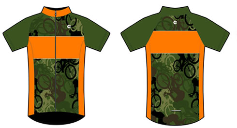 Camo Cycling Jersey