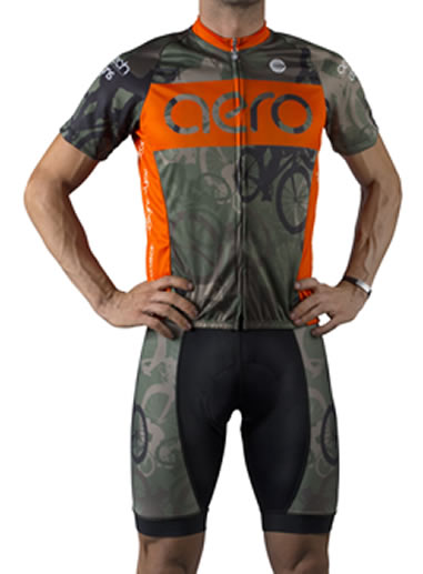 Woodlands Camo Cycling Jersey Front View