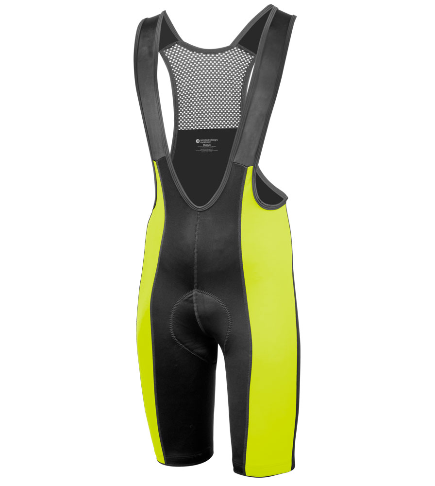 top shelf safety yellow bib shorts