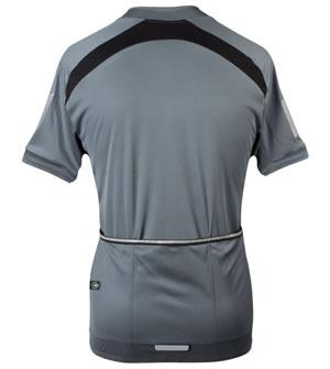 three back pockets with reflective elastic