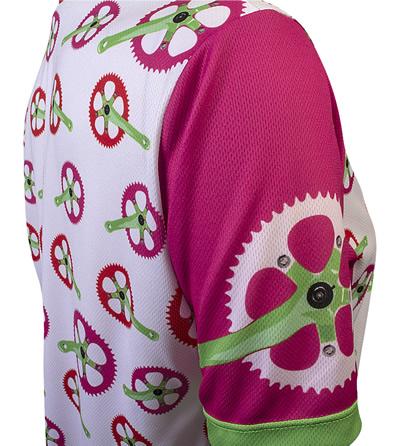 pink bicycle crank