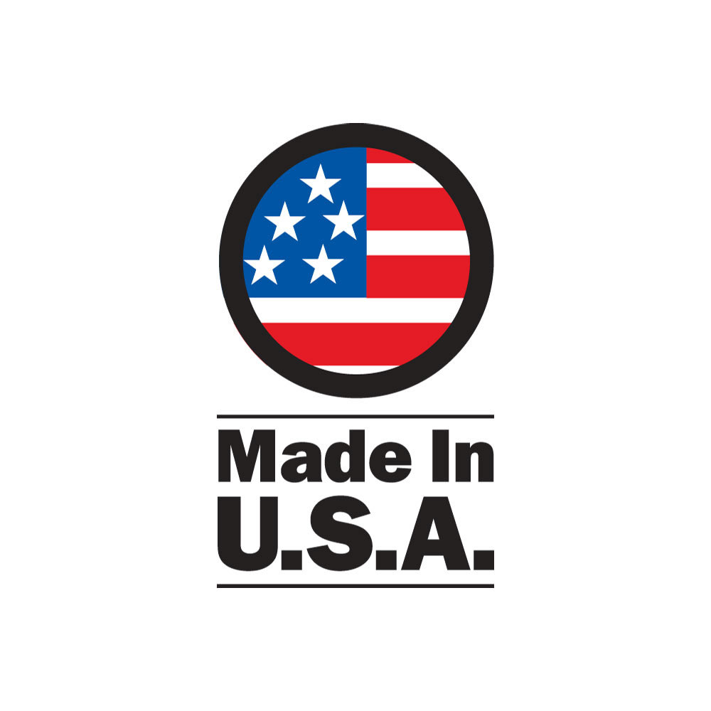Crafted with pride in the USA.