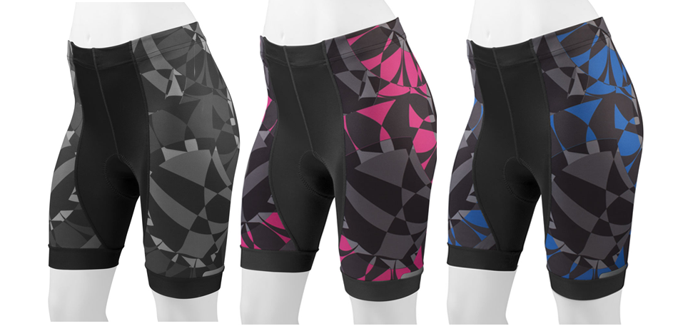 Three colorways, black, pink and blue