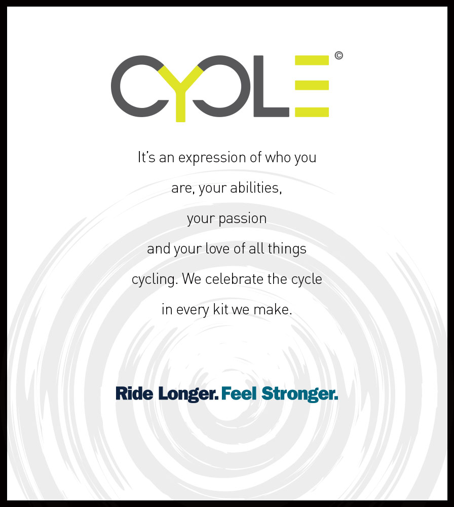 it's an expression of who you are, your abilities, your passion and your love of all things cycling.  We celebrate the cycle in every kit we make.