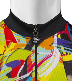 zipper neckline