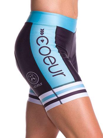 Blue Steel Padded Bike Shorts