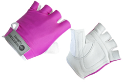 Pink Youth Size Padded Bike Gloves