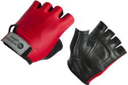 Red Youth Size Padded Bike Gloves