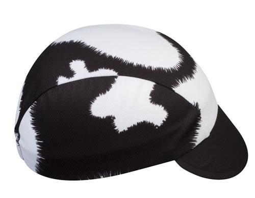 cow print cycling cap