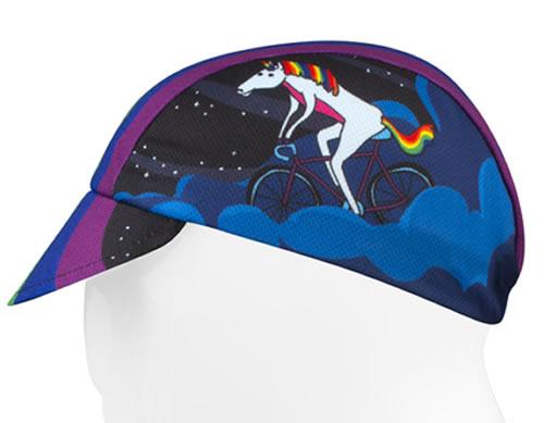 unicorn riding a bicycle