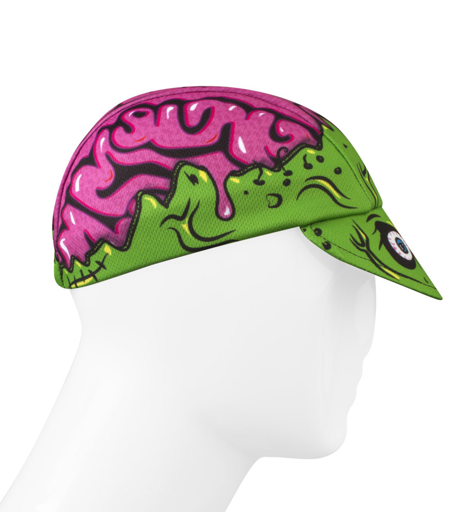 zombie brains cycling hat