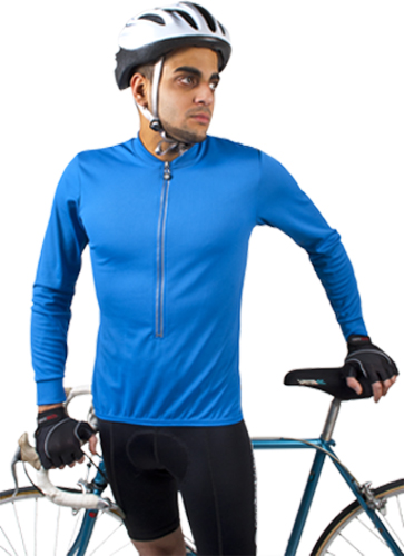 long sleeve wicking cycling jersey