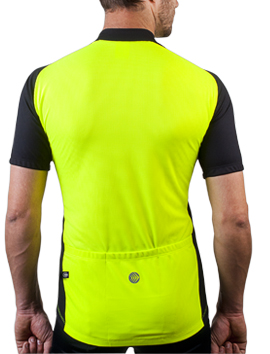 neon high visibility cycle jersey