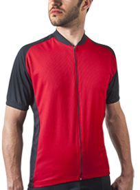 red cycle jersey