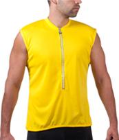 yellow sleeveless bike jersey