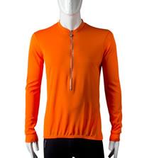 orange long sleeve bike top