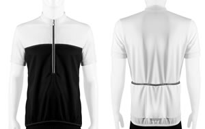 white Men's Shadow Cycling Jersey