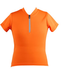 children's bike jersey orange