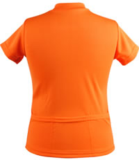 childrens bike jersey pockets - orange