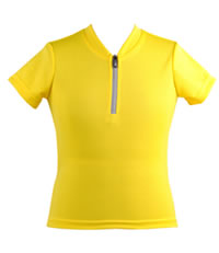 yellow cycling jersey for children