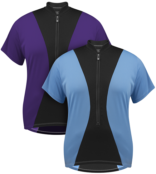 Full Figure Jersey features hourglass design