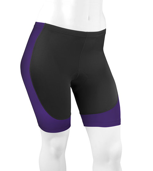 Full figure hourglass padded bike shorts