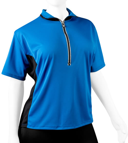 full figure plus size blue jersey