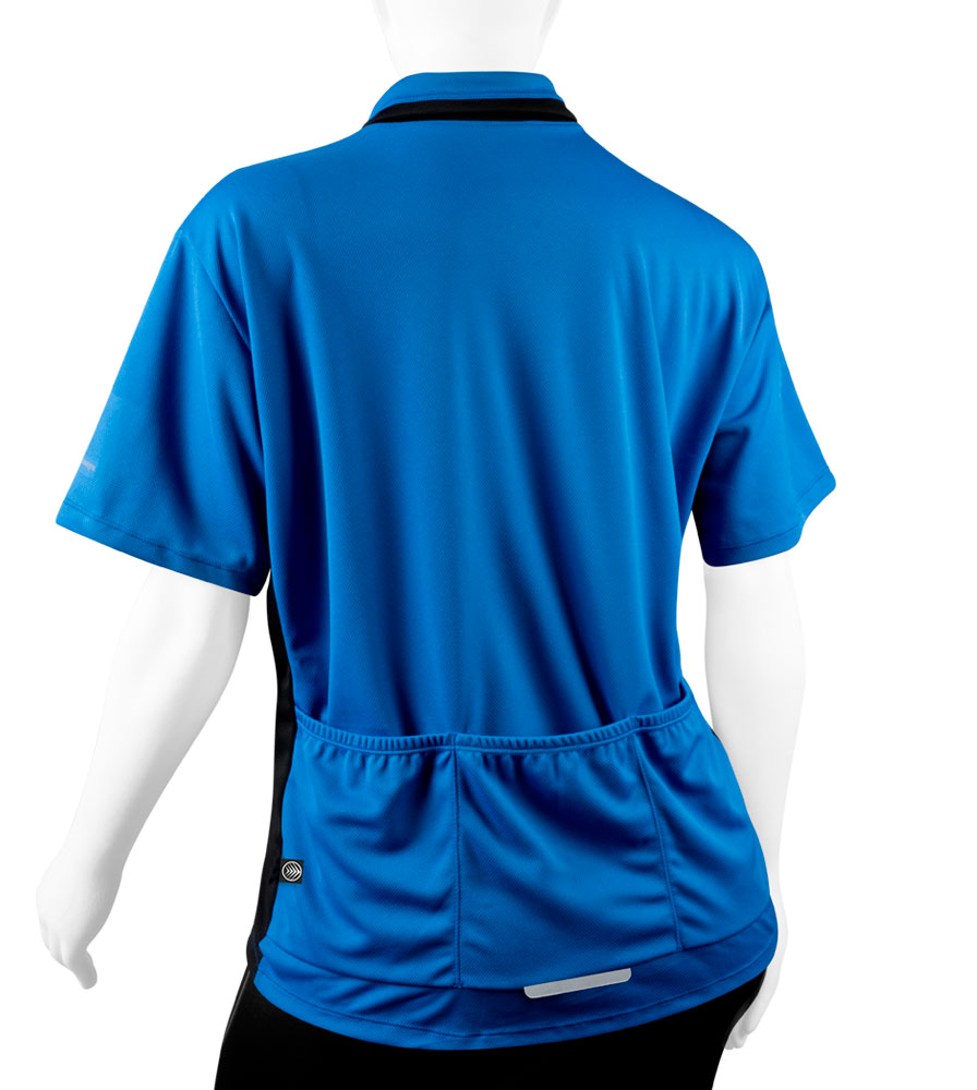 back view of pockets - royal blue
