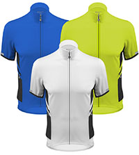 Recumbent cycling jerseys