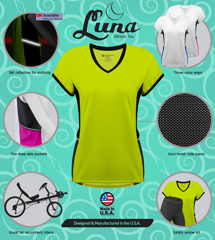 Lots of features in the Luna Athletic Tee