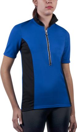 tall women's bike jersey in royal blue