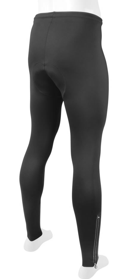winter cycling tights by aero tech back view