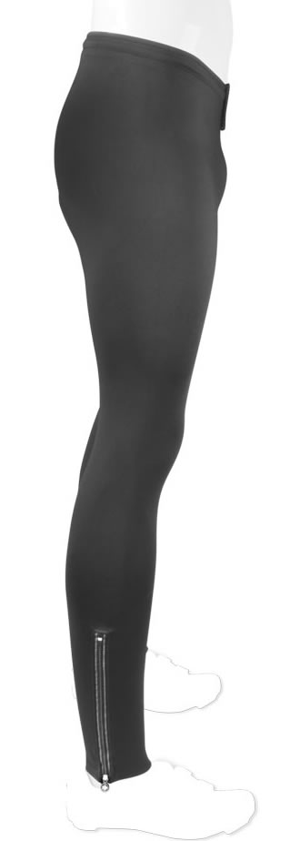 side view of stretchy fleecy tights