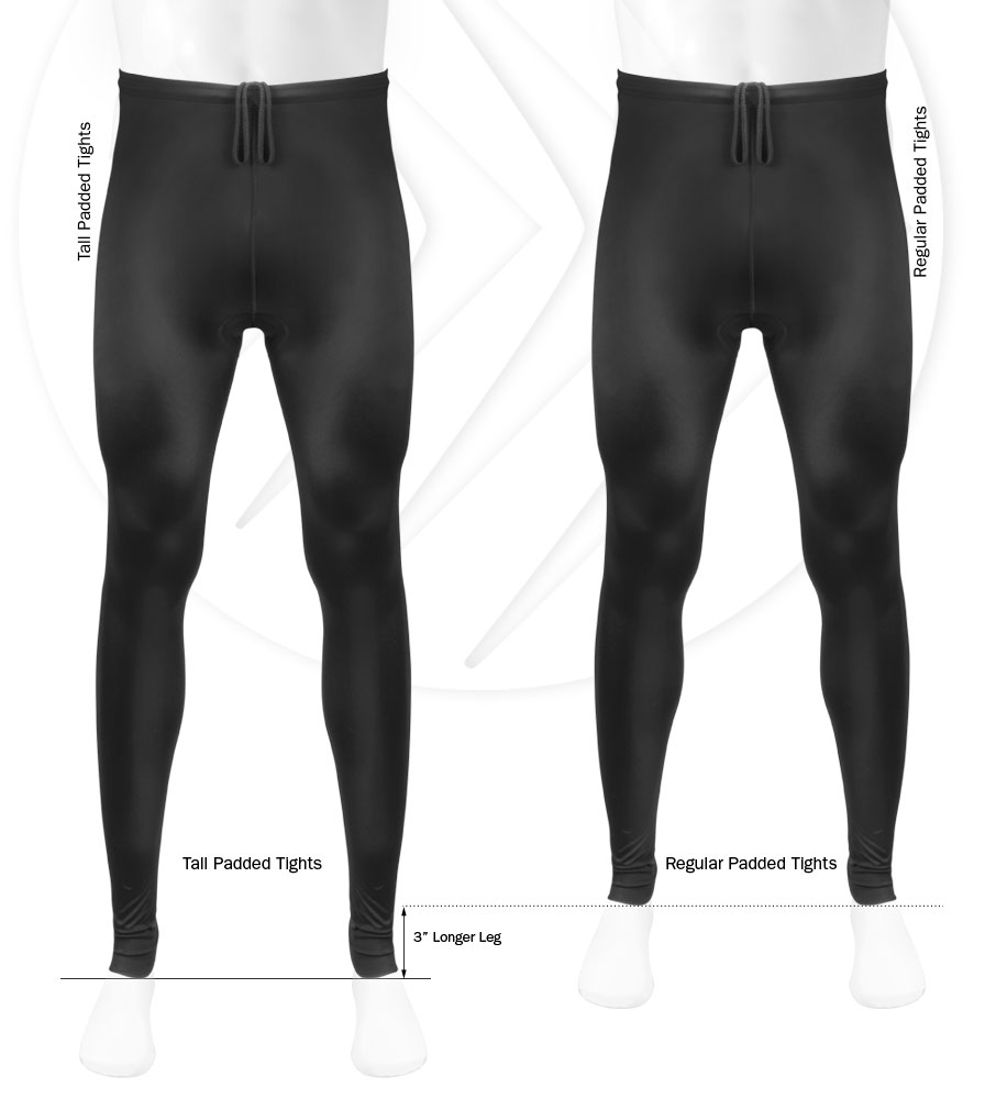 ATD TALL Mens Stretch Fleece Cycling Tights w Long ...