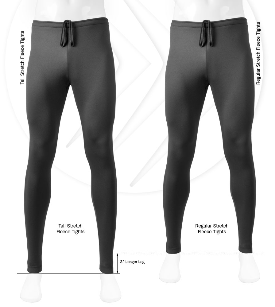 Tall inseam on cycle tights is longer