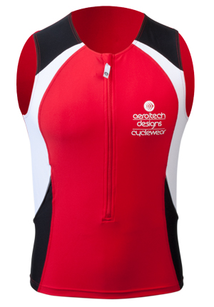 Red Racing Singlet for Triathletes